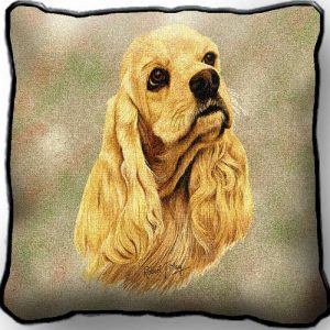 Cocker Spaniel Tapestry Cushion Cover-0