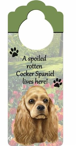 Cocker Spaniel Door Knob Sign-0