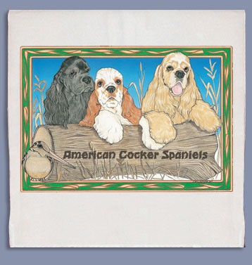 Cocker Spaniel Kitchen Tea Towel-0