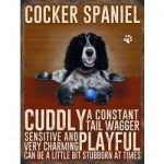English Cocker Spaniel – Hanging Metal Sign-0