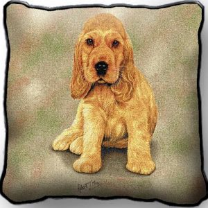 Cocker Spaniel PupTapestry Cushion Cover-0