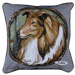 Collie - Tapestry filled cushion-0
