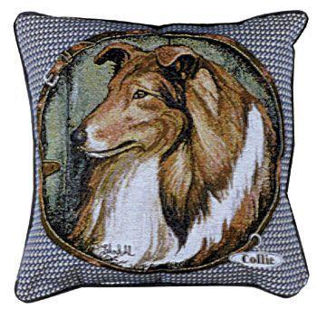 Collie  – Tapestry filled cushion-0