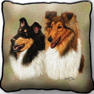 Collies Tapestry Cushion Cover-0