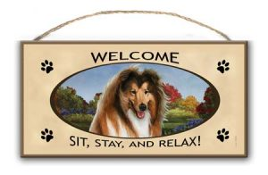 Collie - Welcome Hanging Sign-0