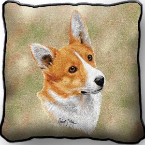 Corgi Tapestry Cushion Cover-0