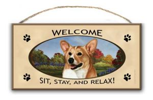 Welsh Corgi - Welcome Hanging Sign-0