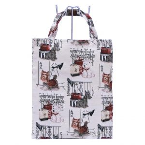 Fashion Dog Re-usable Tapestry Shopping Bag--0
