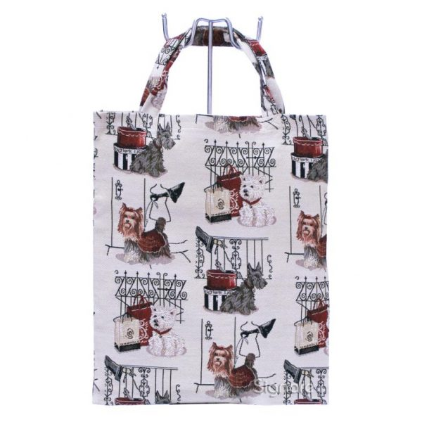 Fashion Dog Re-usable Tapestry Shopping Bag–0