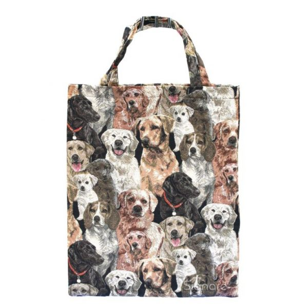 Labrador Re-usable Canvas Tapestry Shopping Bag -0
