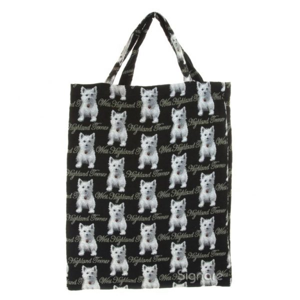 West Highland Terrier Re-usable Tapestry Shopping Bag -0