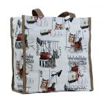 Tapestry Shopper Bag in Fashion Dog Design--0