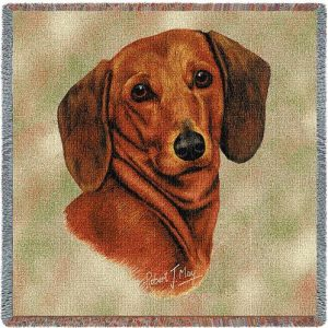 Dachshund Square Tapestry Throw-0