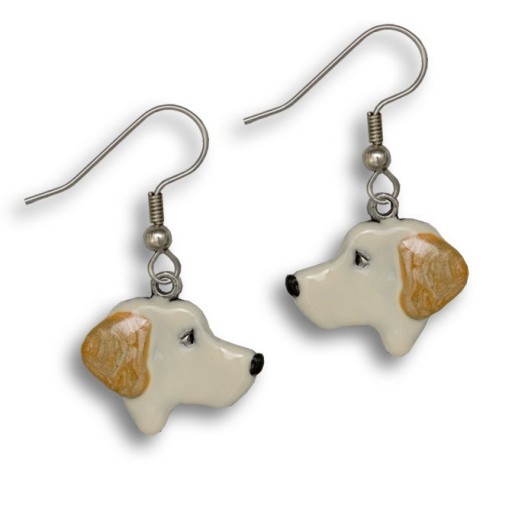 Enamel Yellow Labrador Earrings-0