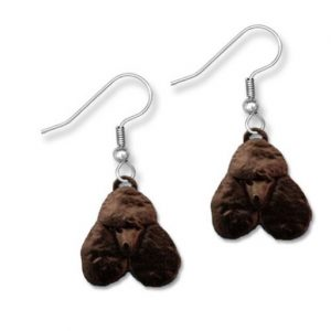 Enamel Black Poodle Earrings-0