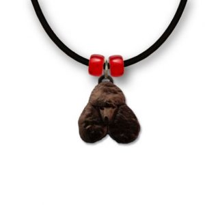 Enamel Black Poodle Necklace-0