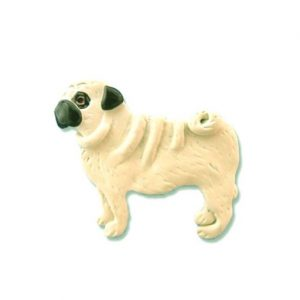 Enamel Black/Tan Pug pin Brooch-0