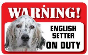 English Setter Warning Sign-0