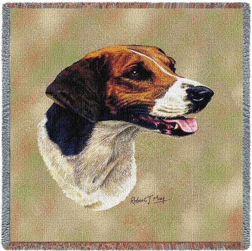 Foxhound Square Tapestry Throw-0