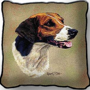 English Foxhound Tapestry Cushion Cover-0