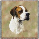 English Pointer Tapestry Throw-0