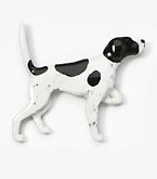 English Pointer Hand Painted Pin-0
