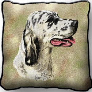 English Setter Tapestry Cushion Cover-0