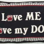 Love Me, Love my Dog – Filled small pillow-0