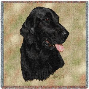 Flatcoated Retriever Tapestry Throw-0