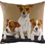 Jack Russell Trio Tapestry Cushion Cover-0