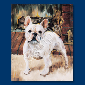 French Bulldog (White)- 6 pack Note Cards-0