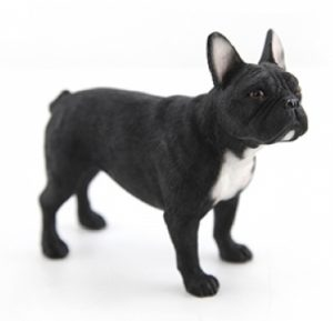 Black French Bulldog Standing Figurine -0