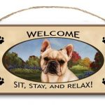 French Bulldog - Welcome Hanging Sign-0