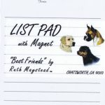 Wired Fox Terrier - Magnetic List Pad-0