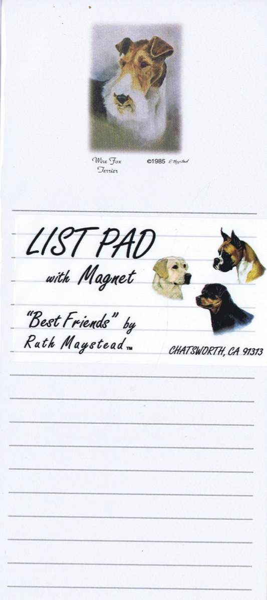 Wired Fox Terrier – Magnetic List Pad-0