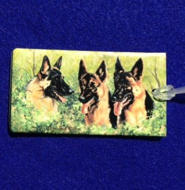 German Shepherd Luggage Bag Tag-0