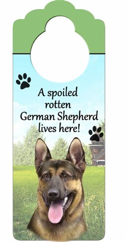 German Shepherd Door Knob Sign-0