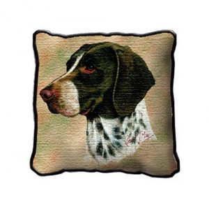 German Shorthair Pointer Tapestry Cushion Cover-0