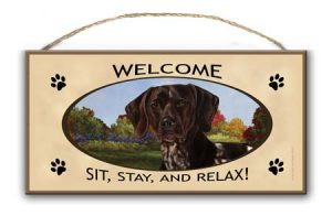 German Shorthaired Pointer - Welcome Hanging Sign-0