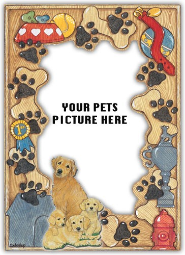 Golden Retriever Photo Frame-0