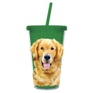Golden Retriever - 500ml Insulated Cup with Straw-0