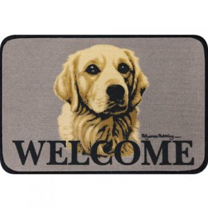 Golden Retriever Coir Door Mat-0