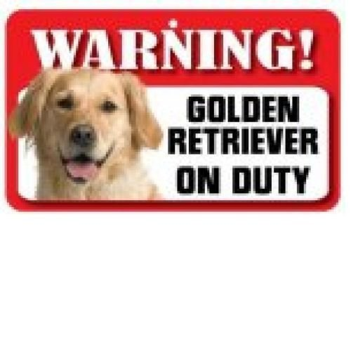 Golden Retriever Warning Sign-0