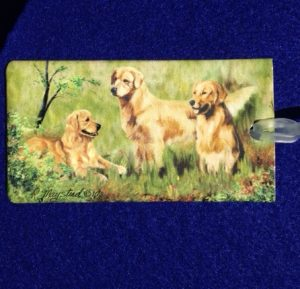 Golden Retriever Luggage Bag Tag-0