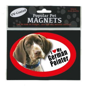 I Love My German Shorthaired Pointer - Oval Magnet-0