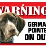 German Shorthaired Pointer Warning Sign-0