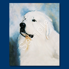 Great Pyrenees- 6 pack Note Cards-0