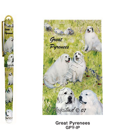 Great Pyrenees Mountain Dog  – Deluxe Ink Pen-0