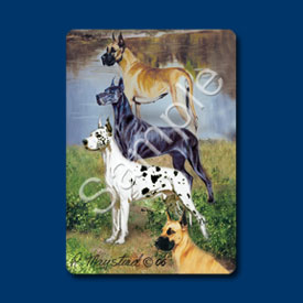 Great Danes - Deck of Playing Cards-0