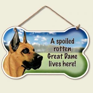 A Spoiled Rotten Great Dane Lives Here - Hanging Sign-0